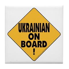 Ukrainian On Board Tile Coaster