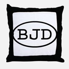 BJD Oval Throw Pillow