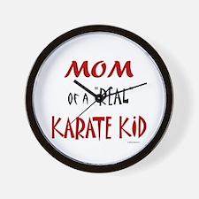 Karate Mom 2 (Cinnamon) Wall Clock