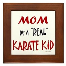 Karate Mom 2 (Cinnamon) Framed Tile