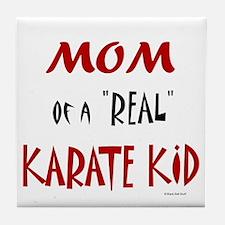 Karate Mom 2 (Cinnamon) Tile Coaster