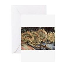 Vincent van Gogh Four Withered Sunf Greeting Cards