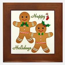 Gingerbread Man - Boy Girl Framed Tile