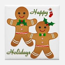 Gingerbread Man - Boy Girl Tile Coaster