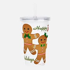 Gingerbread Man - Boy Girl Acrylic Double-wall Tum