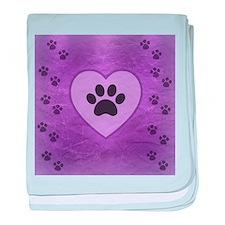 Heart -n- Paw baby blanket