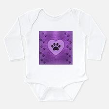 Heart -n- Paw Long Sleeve Infant Bodysuit