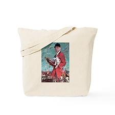 Huntsman with terrier Tote Bag
