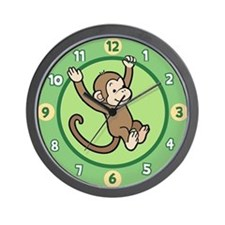 Happy Monkey Wall Clock