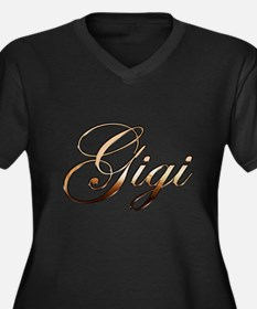 Gold Gigi Plus Size T-Shirt