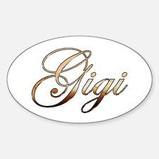 Gold Gigi Decal