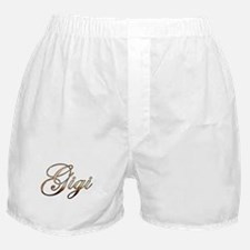 Gold Gigi Boxer Shorts