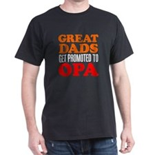 Great Dads Promoted Opa T-Shirt