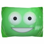 Candy Smiley - Green Pillow Sham