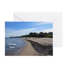 Beach Lake Superior Greeting Cards
