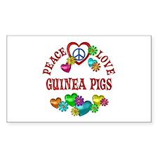 Peace Love Guinea Pigs Decal