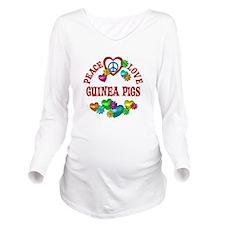 Peace Love Guinea Pi Long Sleeve Maternity T-Shirt