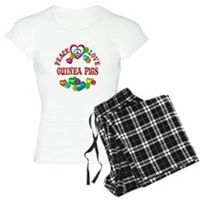 Peace Love Guinea Pigs Pajamas