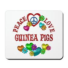 Peace Love Guinea Pigs Mousepad