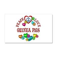 Peace Love Guinea Pigs Car Magnet 20 x 12