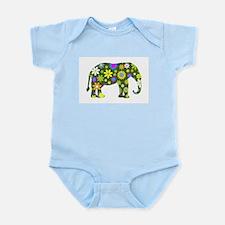 FUNKY RETRO ELEPHANT Body Suit
