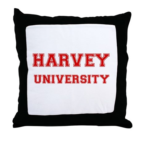 HARVEY UNIVERSITY Throw Pillow