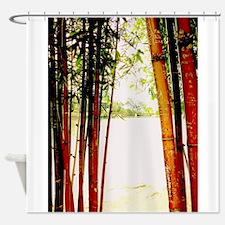 Bamboo window Shower Curtain
