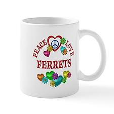 Peace Love Ferrets Mug