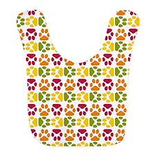 Whimsical Cute Paws Pattern Bib