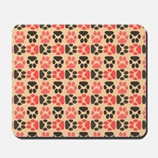 Whimsical Cute Paws Pattern Mousepad