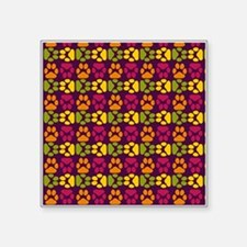 """Whimsical Cute Paws Pattern Square Sticker 3"""" x 3"""""""