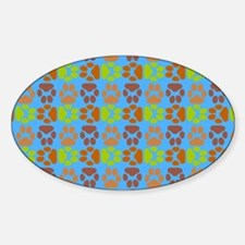 Whimsical Cute Paws Pattern Decal