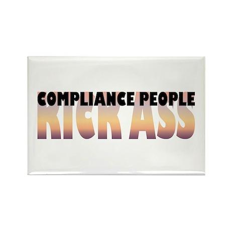 Compliance People Kick Ass Rectangle Magnet (100 p