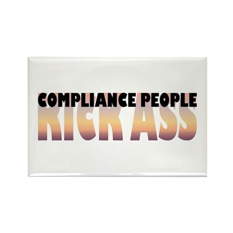 Compliance People Kick Ass Rectangle Magnet (10 pa