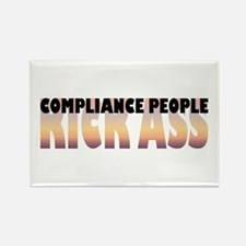 Compliance People Kick Ass Rectangle Magnet