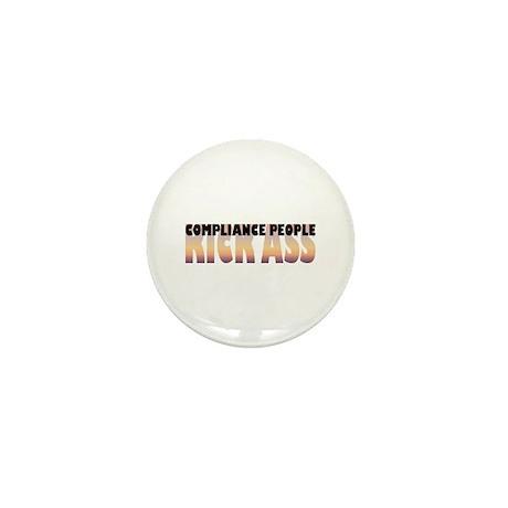 Compliance People Kick Ass Mini Button (100 pack)