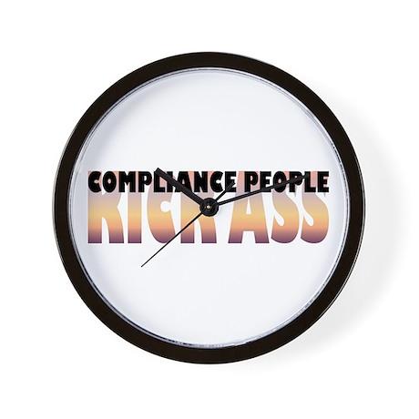 Compliance People Kick Ass Wall Clock