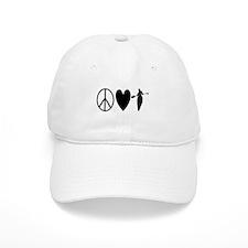Peace Love Paddling Baseball Baseball Cap