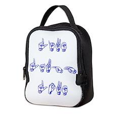 Live Laugh Love -vertical Neoprene Lunch Bag