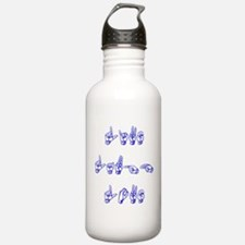 Live Laugh Love -vertical Water Bottle