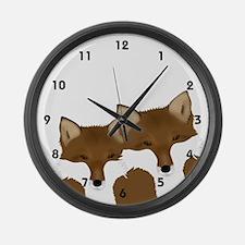 Foxy Large Wall Clock
