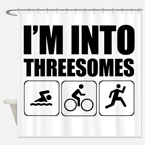 threesome Shower Curtain