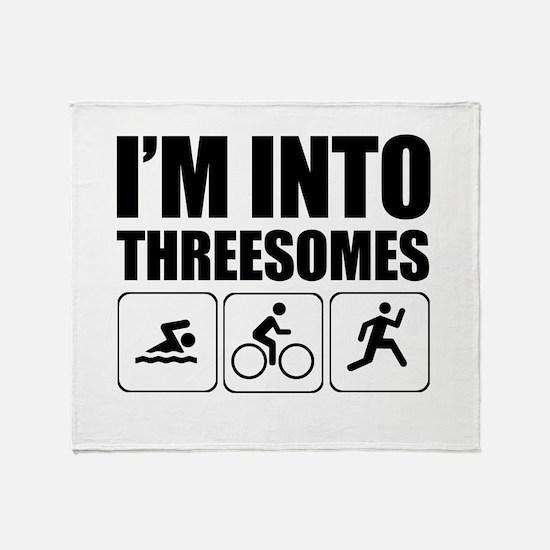 threesome Throw Blanket
