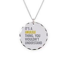 Its A Ukulele Thing Necklace Circle Charm