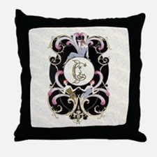 Monogram C Barbier Cabaret Throw Pillow