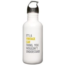 Its A Vintage Car Thin Water Bottle
