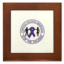 domestic violence Framed Tile