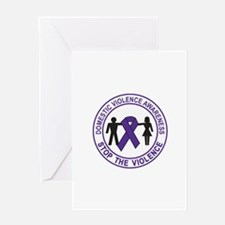 domestic violence Greeting Cards