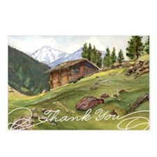 Alpine Thanks Postcards (package Of 8)