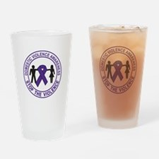 domestic violence Drinking Glass